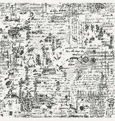 Old seamless pattern or background with scribbles vector
