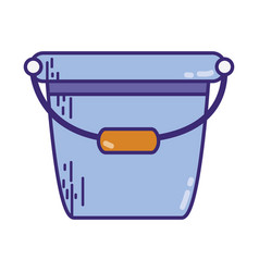 Pail plastic object to clean house vector