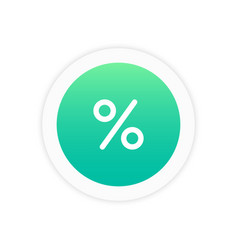 Percent icon sign vector