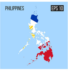 Philippines map border with flag eps10 vector