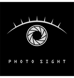 Photo eye with eyelash logo vector image