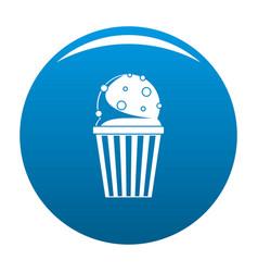 popcorn icon blue vector image