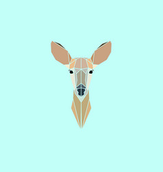 roe deer head geometry logo vector image