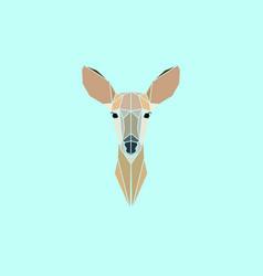 Roe deer head geometry logo vector
