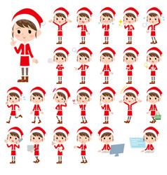 Santa claus costume mom 1 vector