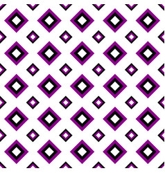 seamless geometrical square pattern design vector image