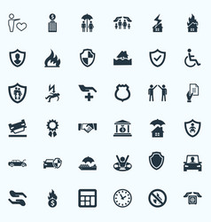 Set of simple fuse icons vector