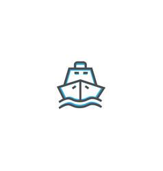 ship icon design transportation icon design vector image