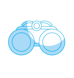 Silhouette binocular element to use in the vector