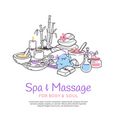 Spa treatment massage salon poster background vector