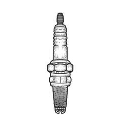 spark plug sketch vector image