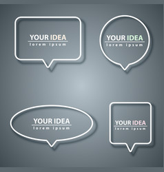 speech bubbles icon dialog box info grey vector image