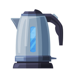 Stainless electric kettle household kitchen vector