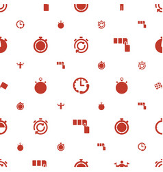 Start icons pattern seamless white background vector