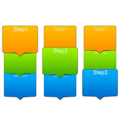 step templates vector image