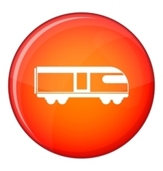 Swiss mountain train icon flat style vector image