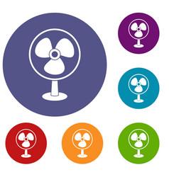 ventilator icons set vector image
