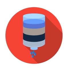 Water filter cartridge icon in flat style isolated vector