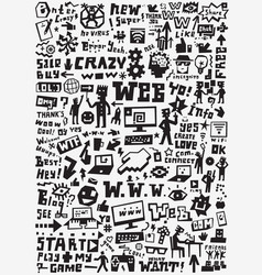 web doodles design elements vector image