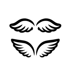 wings for logo and branding element hand drawn vector image