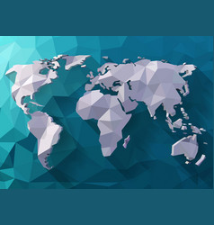 world map in polygonal style vector image