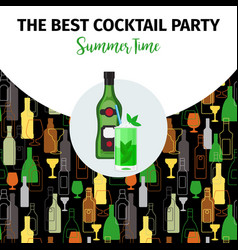banner for best cocktail party bar vector image