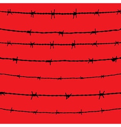 Barbed wire seamless background fence vector image