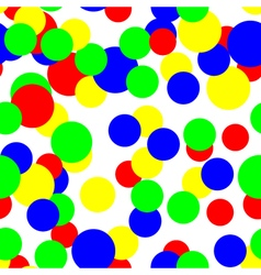 Colorful circles pattern seamless background vector image