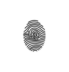 fingerprint icon identification vector image vector image