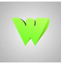 Letter w comic style font eps10 vector