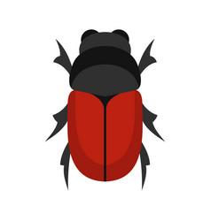 maybug icon flat style vector image vector image