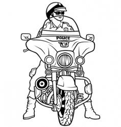 road police vector image vector image