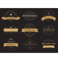 Set of classic vintage banners or labels vector image vector image
