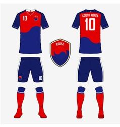 South Korea soccer kit football jersey template vector image