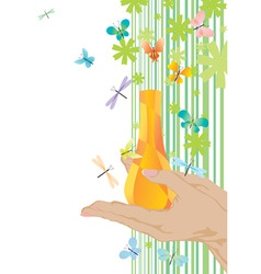 yellow fragrance and butterflies vector image vector image