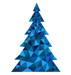 abstract blue polygonal christmas tree vector image
