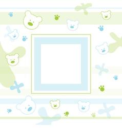 Baby Teddy Frame vector image