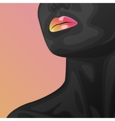 Beauty Woman Face and Neck vector image vector image