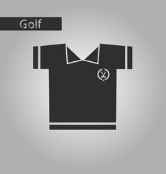 black and white style icon golf shirt vector image