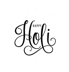happy holi lettering text vector image