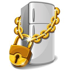 Locked refrigerator vector image