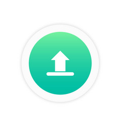 upload icon sign vector image