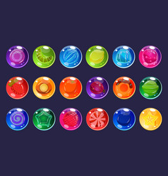 candies sett glossy sweets of different colors vector image vector image