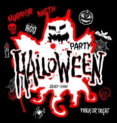 Halloween Party Design template with pumpkin and vector image vector image
