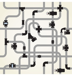 Seamless background of water pipeline vector image
