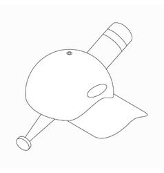 Baseball cap and baseball bat icon vector image