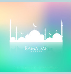 beautiful mosque on beautiful background vector image vector image