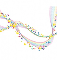 colourful lines vector image vector image