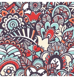 Doodle seamless print Floral background vector image