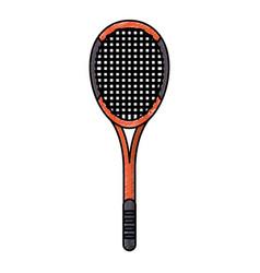 drawing racket tennis equipment vector image